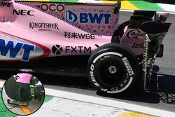 Force India VJM10: Messgerät am Hinterrad