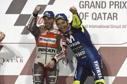 Ganador, Andrea Dovizioso, Ducati Team, tercero, Valentino Rossi, Yamaha Factory Racing