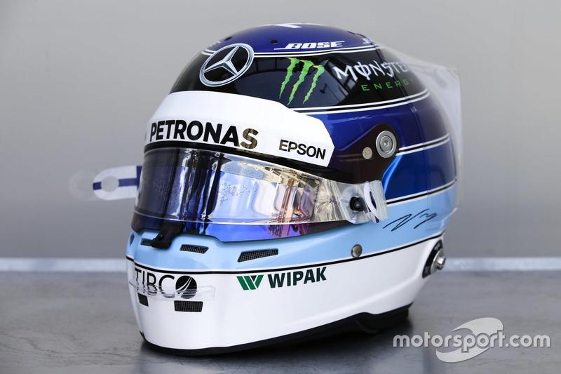 Casco especial para el GP de Mónaco de Valtteri Bottas, Mercedes-AMG F1