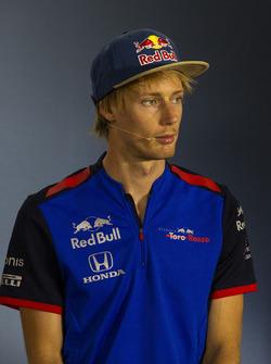 Pierre Gasly, Scuderia Toro Rosso, en rueda de prensa