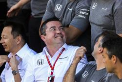 Eric Boullier, Racing Director, McLaren, at the McLaren team photo call