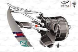 Mercedes AMG F1 W09 brake fins
