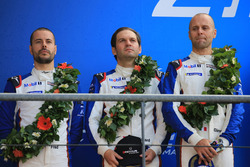 LMGTE Pro podium: second place Richard Lietz, Gianmaria Bruni, Frédéric Makowiecki, Porsche GT Team