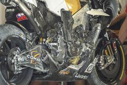 Karel Abraham, Angel Nieto Team crashed bike