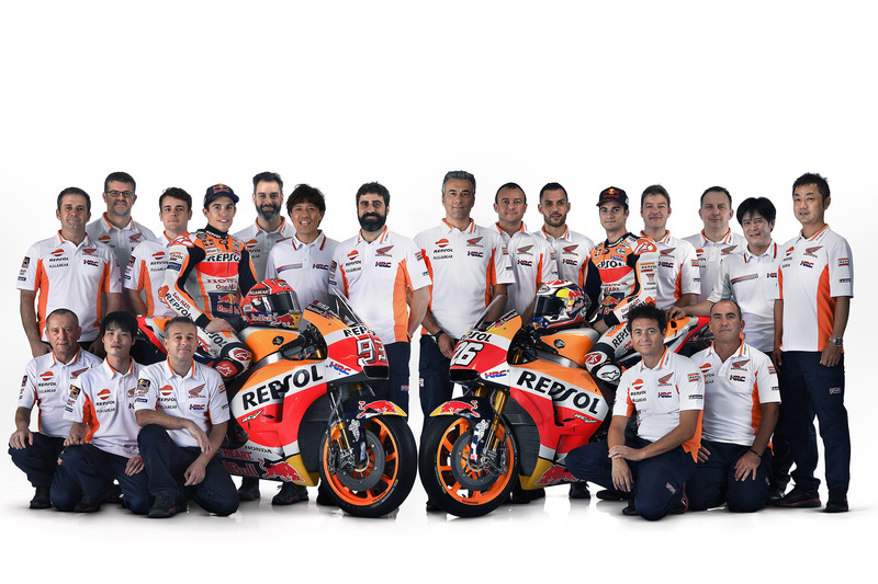 Dani Pedrosa and Marc Marquez, Repsol Honda Team with the team