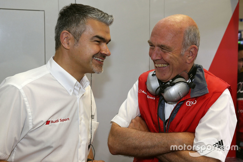 Dieter Gass, Jefe de DTM Audi Sport y Dr. Wolfgang Ullrich, jefe de Audi Sport