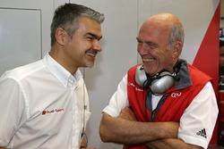 Dieter Gass, DTM-Leiter von Audi, mit Wolfgang Ullrich, Audi-Sportchef
