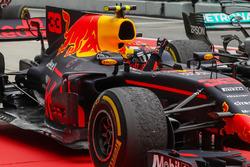 Race winner Max Verstappen, Red Bull Racing RB13 celebrates in parc ferme