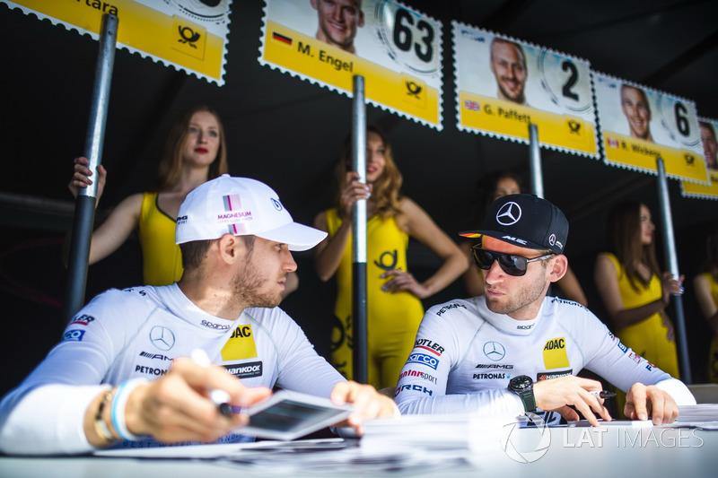 Edoardo Mortara, Mercedes-AMG Team HWA, Mercedes-AMG C63 DTM, Maro Engel, Mercedes-AMG Team HWA, Mer