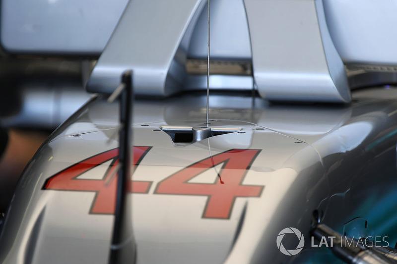 Mercedes-Benz F1 W08 Hybrid nose detail