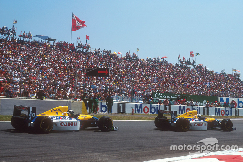 Alain Prost, Williams FW15C Renault, Damon Hill, Williams FW15C Renault