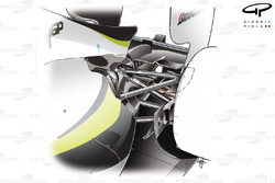 Brawn BGP 001 2009 rear suspension overview