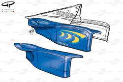 BAR 01 sidepod bodywork