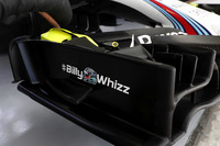 Williams FW40 with #BillyWhizz logo