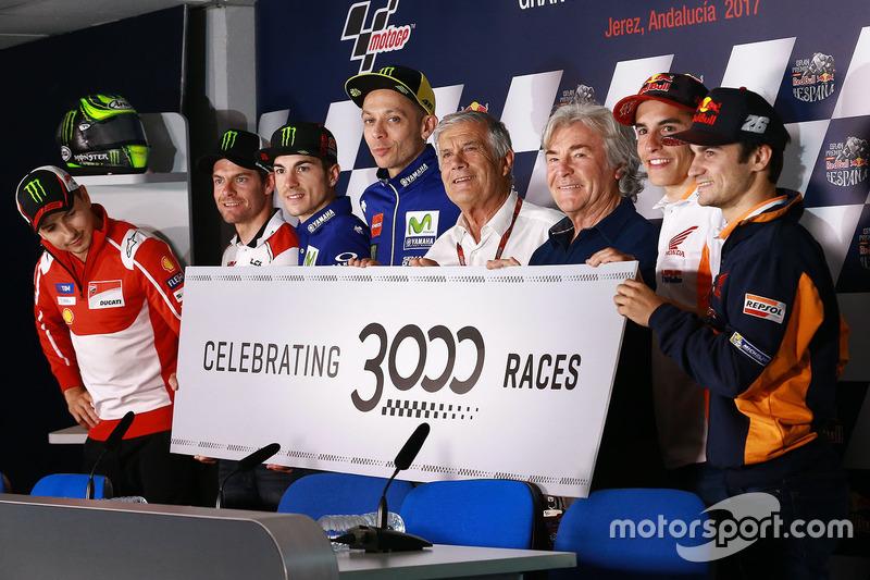 Línea de celebración de pilotos para las 3000 carreras