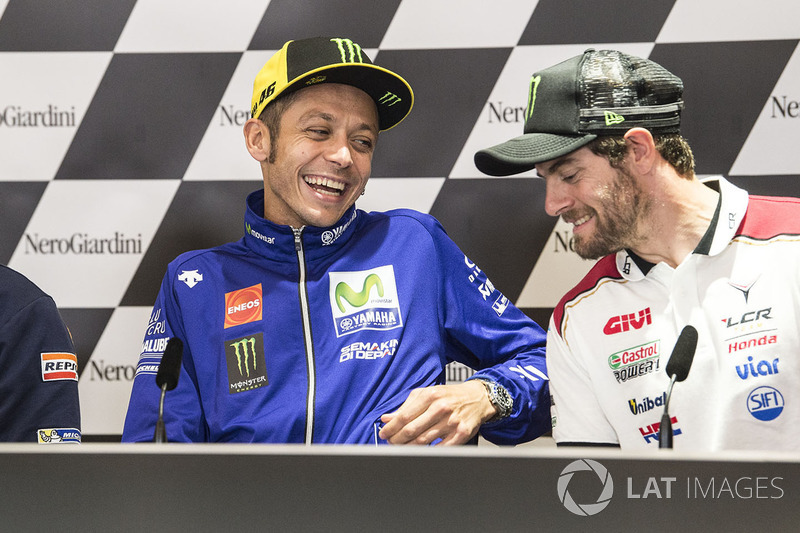 Прес-конференція: Валентино Россі, Yamaha Factory Racing, Кел Кратчлоу, Team LCR Honda
