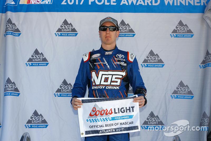 Polesitter Kyle Busch, Joe Gibbs Racing, Toyota