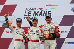 Podium GT winners: #31 Team Audi Korea Audi R8 LMS GT3: Kyong Ouk You, Marchy Lee, Alex Yoong