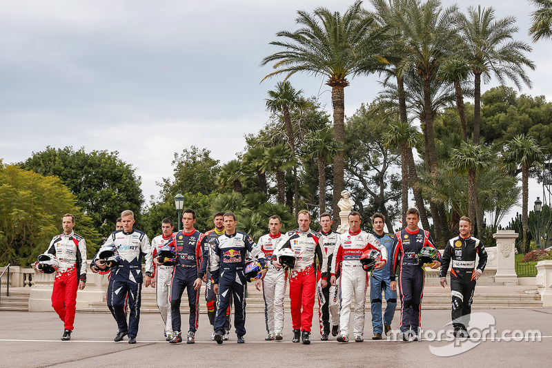 Foto de los pilotos del WRC 2017