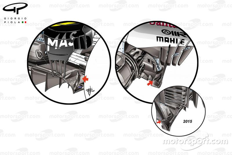 Ferrari vs. Williams: Diffusor