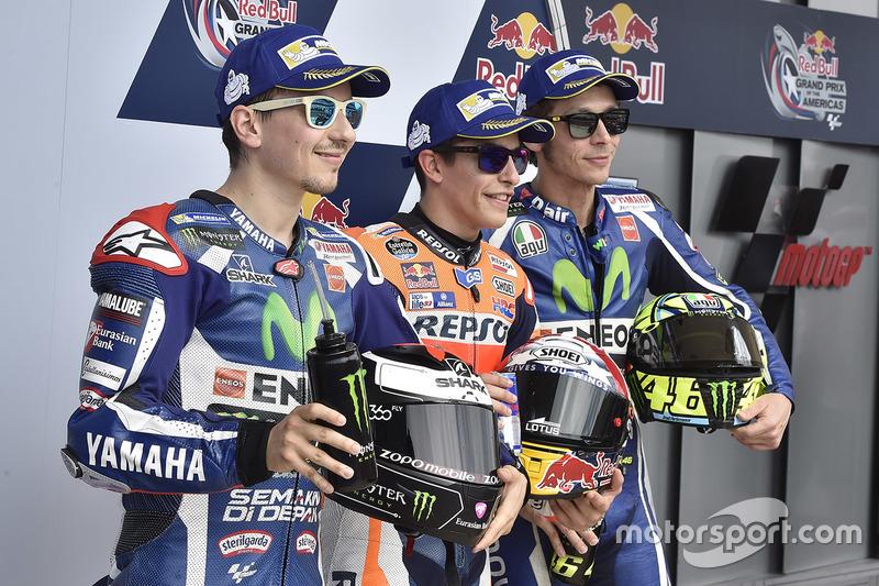 Qualifiche: primo Marc Marquez, Repsol Honda Team, secondo Jorge Lorenzo, Yamaha Factory Racing, terzo Valentino Rossi, Yamaha Factory Racing