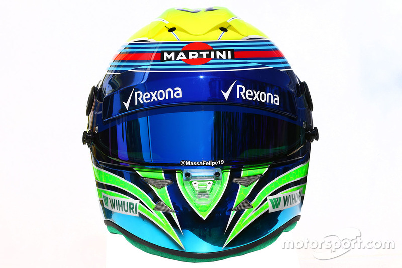 Il casco di of Felipe Massa, Williams