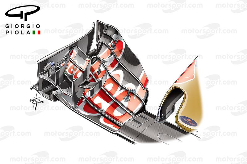 Toro Rosso STR11 front wing, German GP