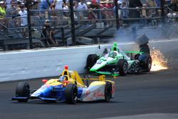 Sage Karam, Dreyer & Reinbold Racing Chevrolet crash