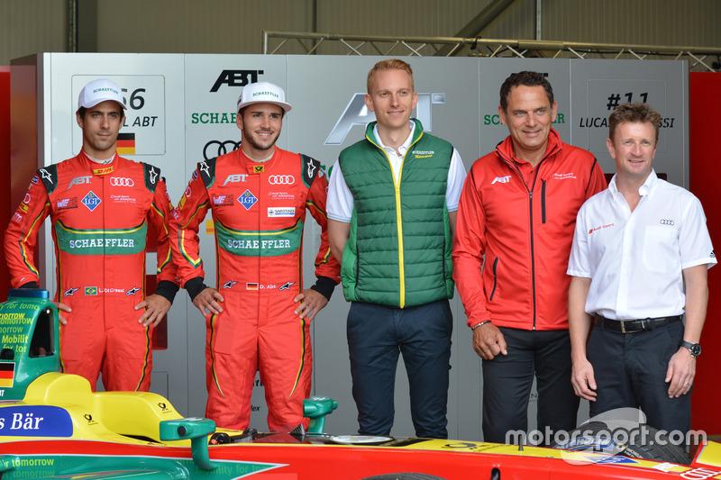 Lucas di Grassi, Daniel Abt, Jurgen Abt, ABT Schaeffler Audi Sport, Allan McNish