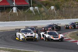 #58 Garage 59, McLaren 650S GT3: Rob Bell, Alvaro Parente, #98 Rowe Racing BMW M6: Stef Dusseldorp,