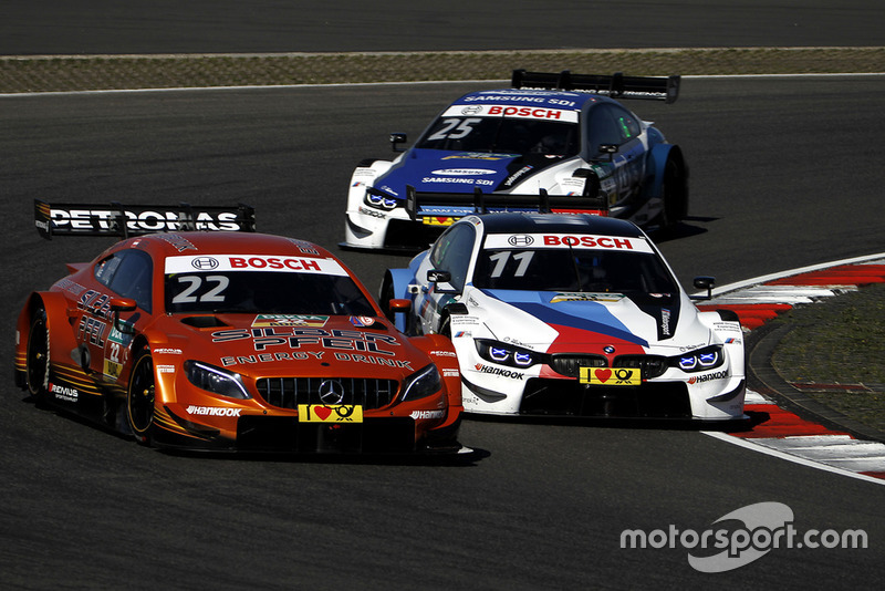 Lucas Auer, Mercedes-AMG Team HWA, Mercedes-AMG C63 DTM, Marco Wittmann, BMW Team RMG, BMW M4 DTM