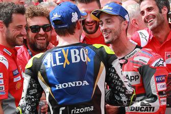 1. Andrea Dovizioso, Ducati Team, 4. Cal Crutchlow, Team LCR Honda