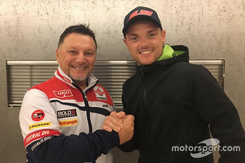 Fausto Gresini with Sam Lowes, Federal Oil Gresini Moto2