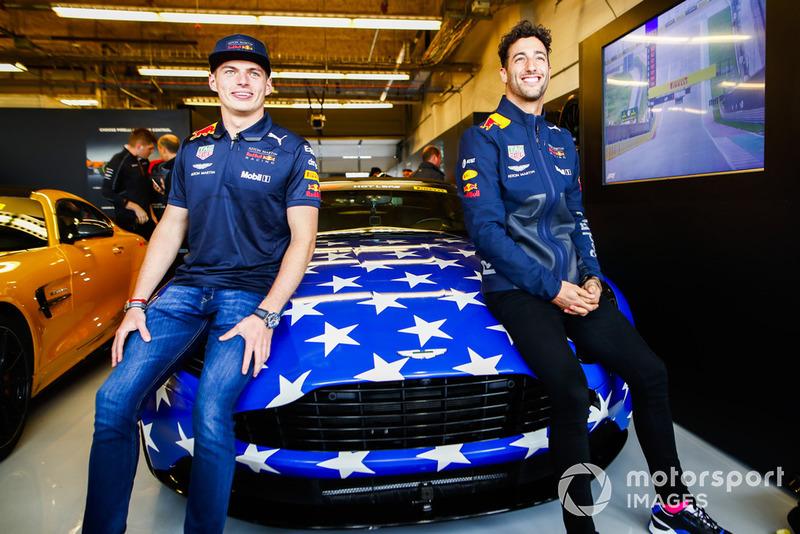 Макс Ферстаппен, Даніель Ріккардо, Red Bull Racing, Aston Martin