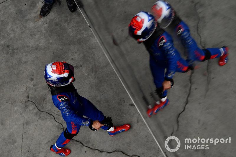 Brendon Hartley, Scuderia Toro Rosso dans le Parc Fermé