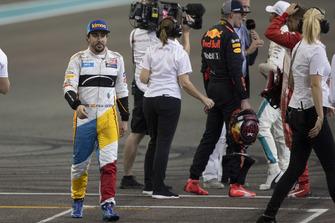 Fernando Alonso, McLaren dans le parc fermé