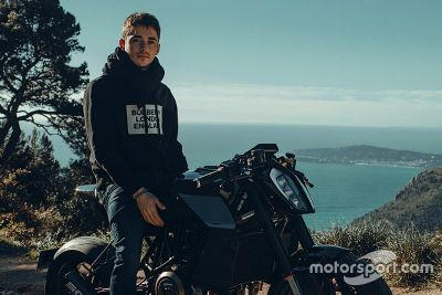 Charles Leclerc in Moto