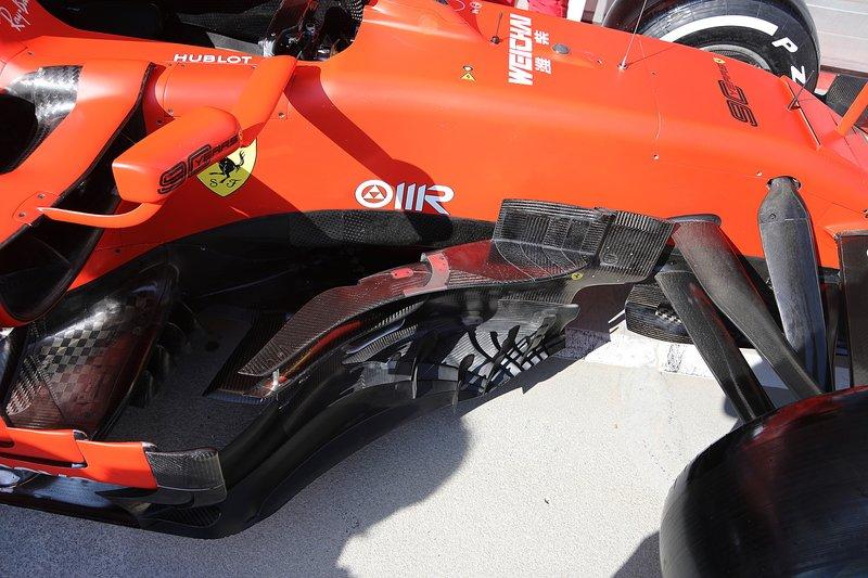 Ferrari SF90, il nuovo bargeboard del GP d'Ungheria