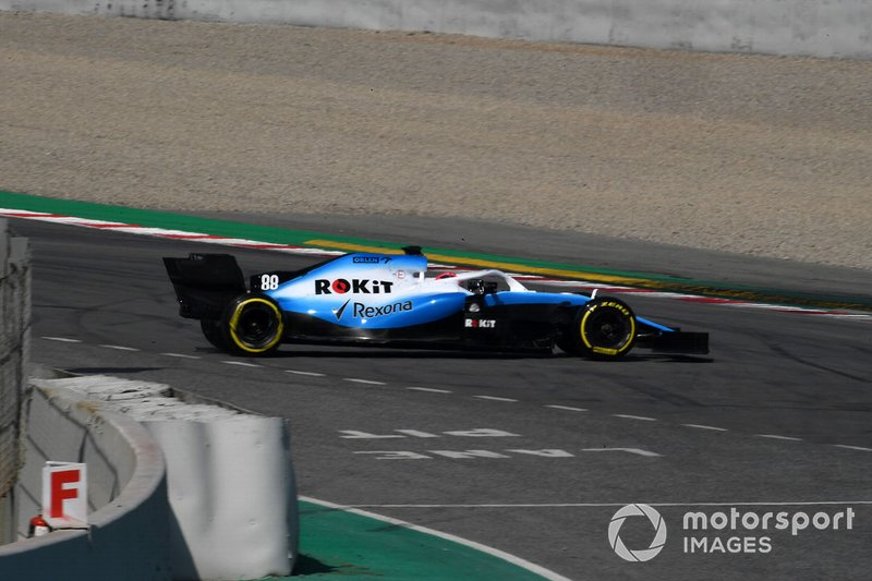 Robert Kubica, Williams FW42, part en tête-à-queue