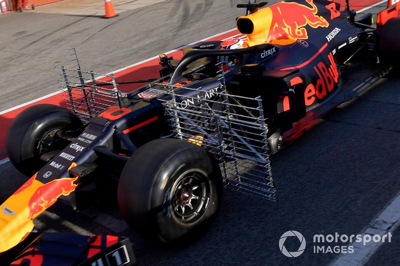 Pierre Gasly, Red Bull Racing RB15 con sensores