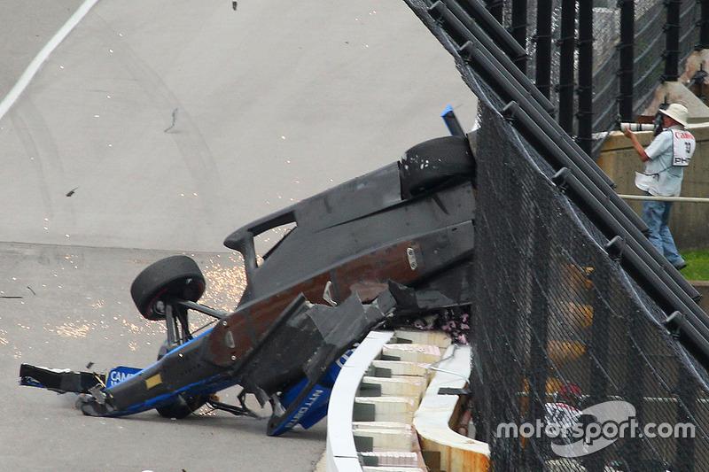 Gros accident de Scott Dixon, Chip Ganassi Racing Honda