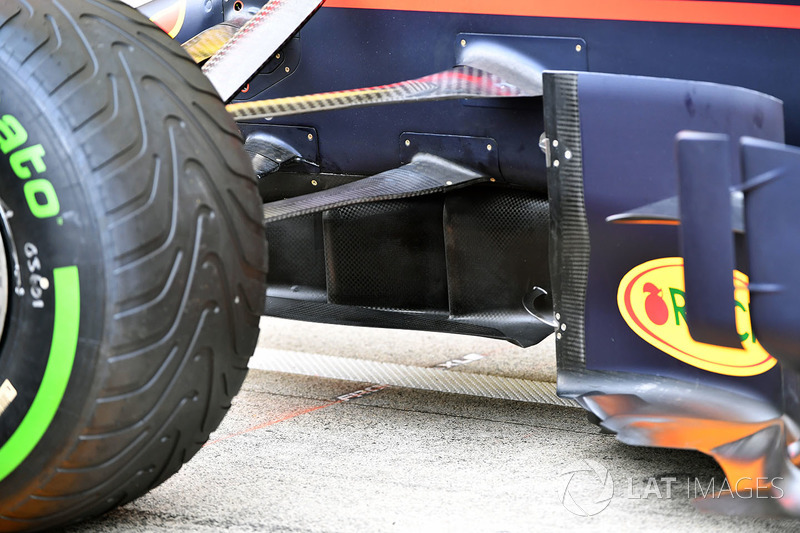Red Bull Racing RB13 detail ophanging