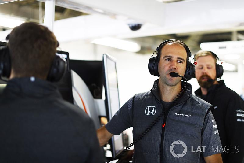 Tom Stallard, ingeniero de rendimiento de McLaren
