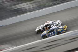 Landon Cassill, Front Row Motorsports, Ford Fusion, Chase Elliott, Hendrick Motorsports Chevrolet