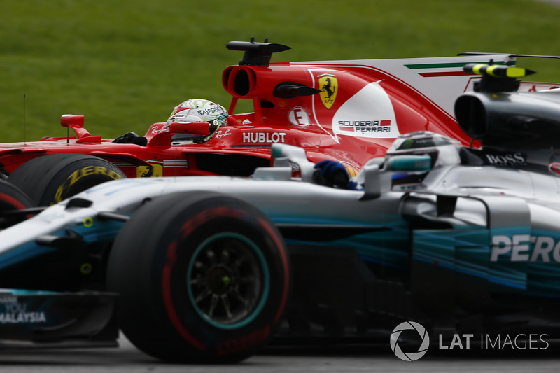 Sebastian Vettel escalou todo o grid, tentando amenizar o prejuízo de ter largado em último.