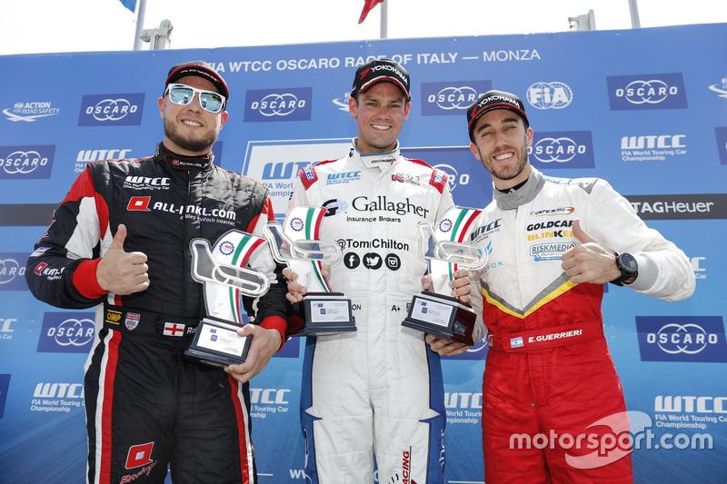 Trophy Podium: First place Tom Chilton, Sébastien Loeb Racing, Citroën C-Elysée WTCC, second place R
