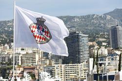 Monegasque flag overlooking the harbour