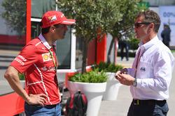 Marc Gene, Ferrari et Tom Kristensen, commissaire de la FIA