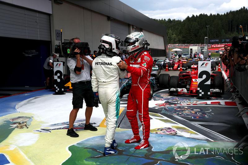 1. Valtteri Bottas, Mercedes AMG F1; 2. Sebastian Vettel, Ferrari