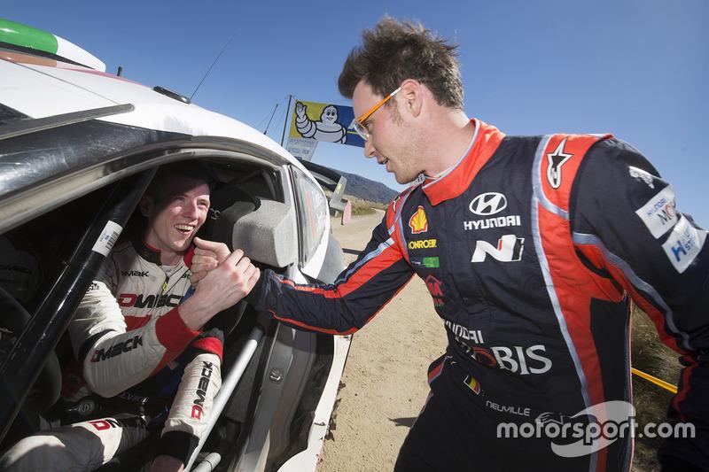 Winner Thierry Neuville, Hyundai Motorsport, second place Elfyn Evans, M-Sport